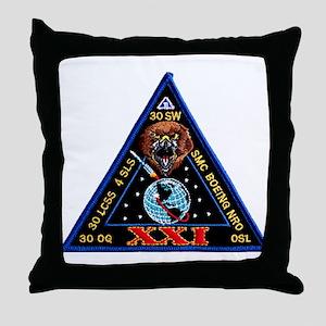 NROL 21 Launch Logo Throw Pillow
