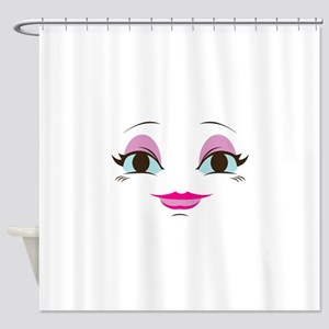 DOLL FACE 8 Shower Curtain