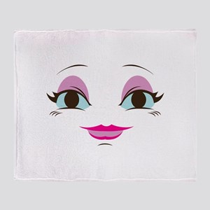 DOLL FACE 8 Throw Blanket