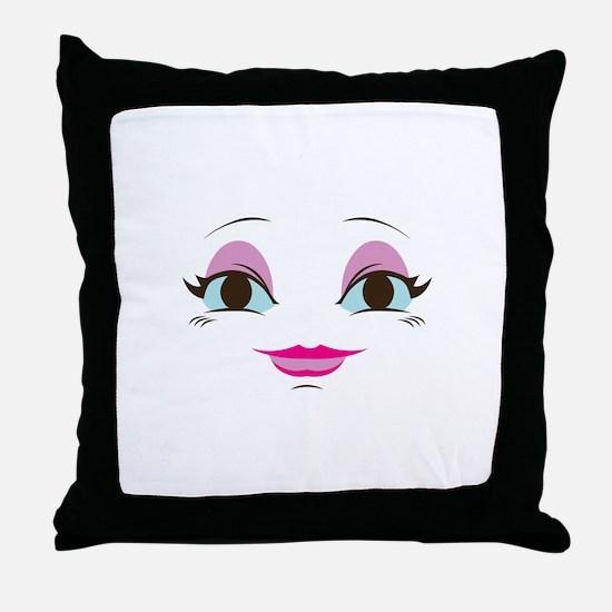 DOLL FACE 8 Throw Pillow