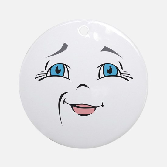 DOLL FACE 10 Ornament (Round)