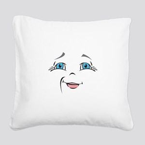 DOLL FACE 10 Square Canvas Pillow