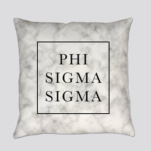 Phi Sigma Sigma Marble Everyday Pillow