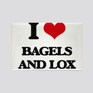 bagels and lox Magnets