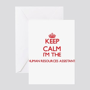 Keep calm I'm the Human Resources A Greeting Cards