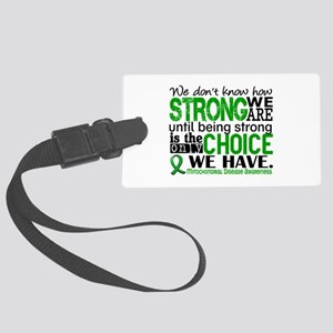 Mitochondrial Disease HowStrongW Large Luggage Tag