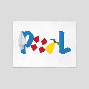 Pool Stuff 5'x7'Area Rug