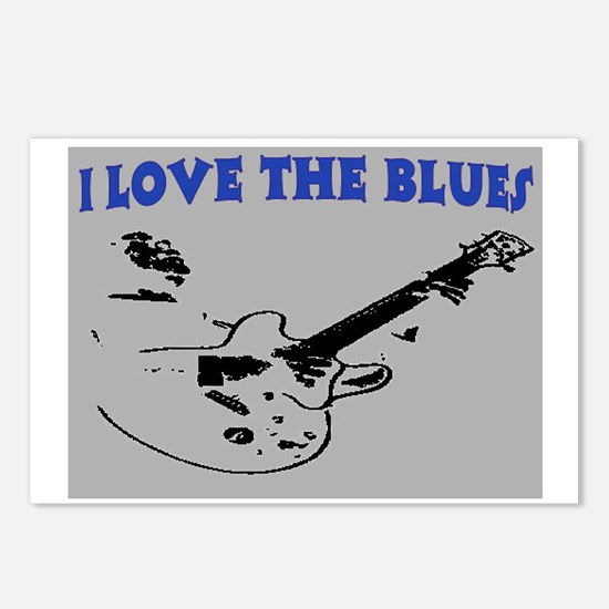 I LOVE THE BLUES Postcards (Package of 8)