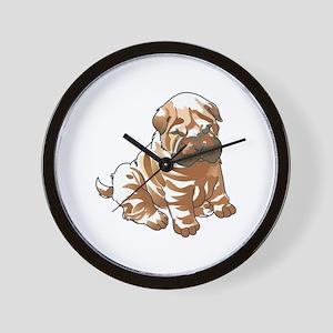 SHAR PEI PUPPY Wall Clock