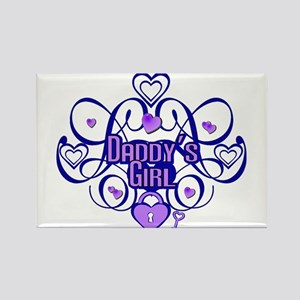 Daddy's Girl Blue/Lavender Rectangle Magnet