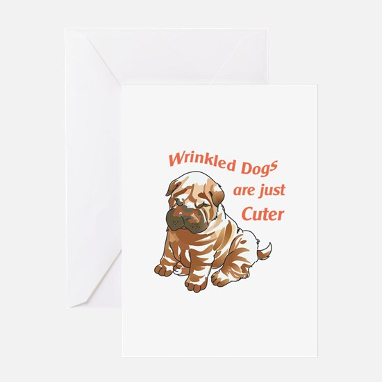 WRINKLED DOGS Greeting Cards