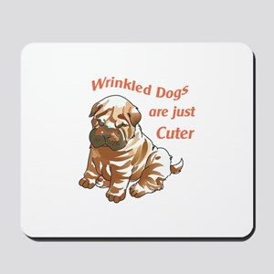 WRINKLED DOGS Mousepad