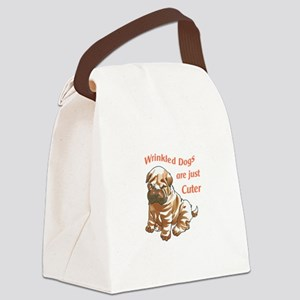 WRINKLED DOGS Canvas Lunch Bag
