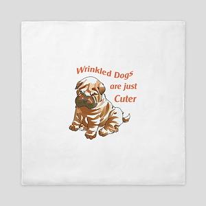 WRINKLED DOGS Queen Duvet
