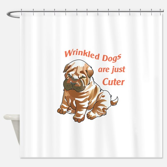 WRINKLED DOGS Shower Curtain