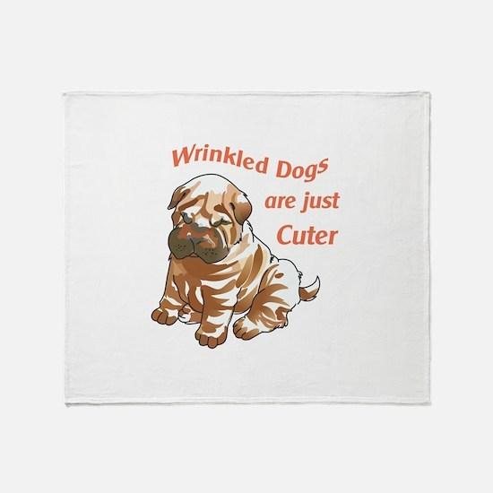 WRINKLED DOGS Throw Blanket