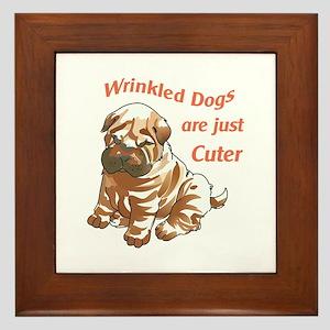 WRINKLED DOGS Framed Tile