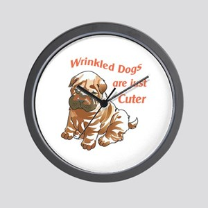 WRINKLED DOGS Wall Clock