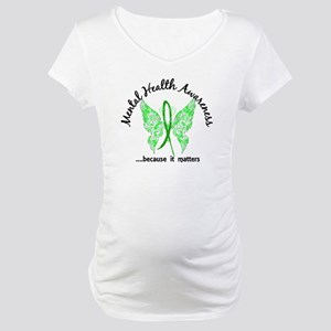 Mental Health Butterfly 6.1 Maternity T-Shirt