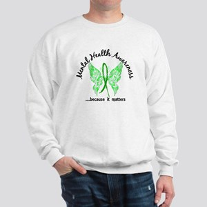Mental Health Butterfly 6.1 Sweatshirt