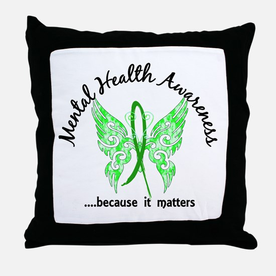Mental Health Butterfly 6.1 Throw Pillow