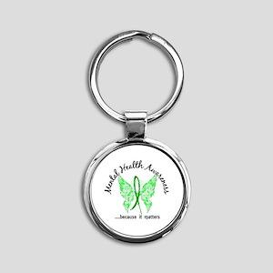 Mental Health Butterfly 6.1 Round Keychain