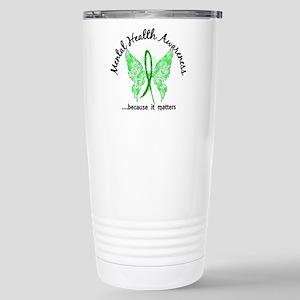 Mental Health Butterfly Stainless Steel Travel Mug