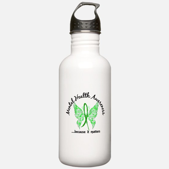 Mental Health Butterfl Water Bottle