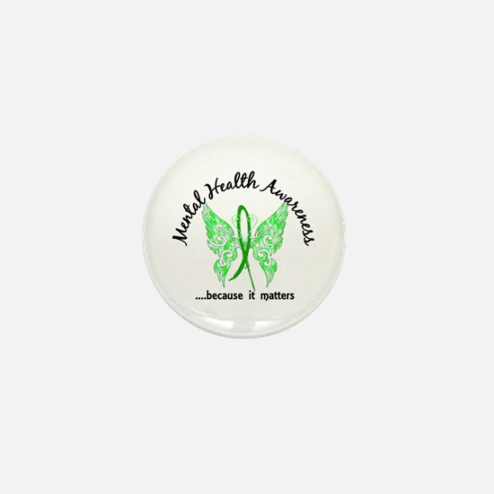 Mental Health Butterfly 6.1 Mini Button