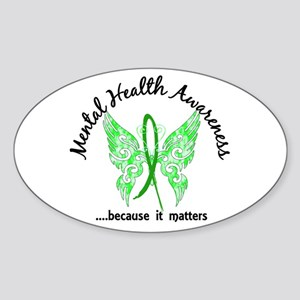 Mental Health Butterfly 6.1 Sticker (Oval)