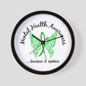 Mental Health Butterfly 6.1 Wall Clock