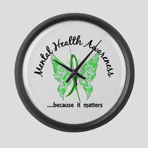 Mental Health Butterfly 6.1 Large Wall Clock
