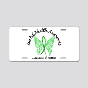 Mental Health Butterfly 6.1 Aluminum License Plate