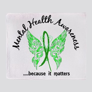 Mental Health Butterfly 6.1 Throw Blanket
