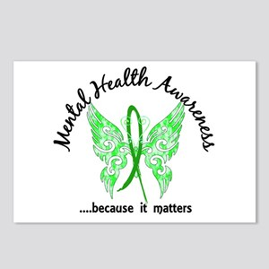 Mental Health Butterfly 6 Postcards (Package of 8)
