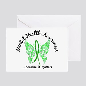 Mental Health Butterfly 6.1 Greeting Card