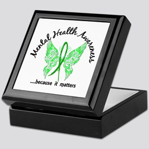 Mental Health Butterfly 6.1 Keepsake Box