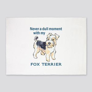 NEVER DULL WITH TERRIER 5'x7'Area Rug