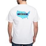 True Blue United States LIBERAL - White T-Shirt