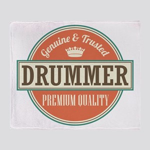 Drummer Music Throw Blanket