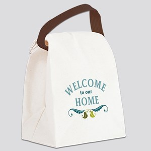 Welcome to Our Home Canvas Lunch Bag