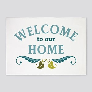 Welcome to Our Home 5'x7'Area Rug