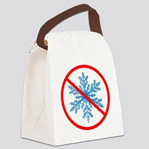 no snow Canvas Lunch Bag