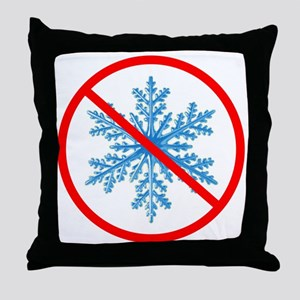 no snow Throw Pillow