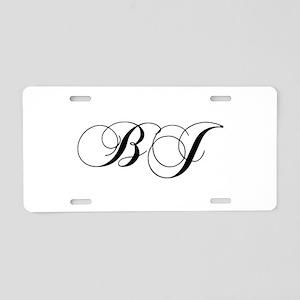 BJ-cho black Aluminum License Plate