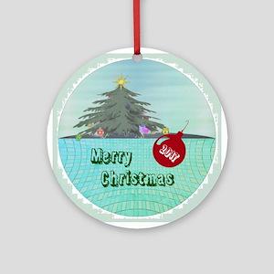 Holiday Tree Round Ornament