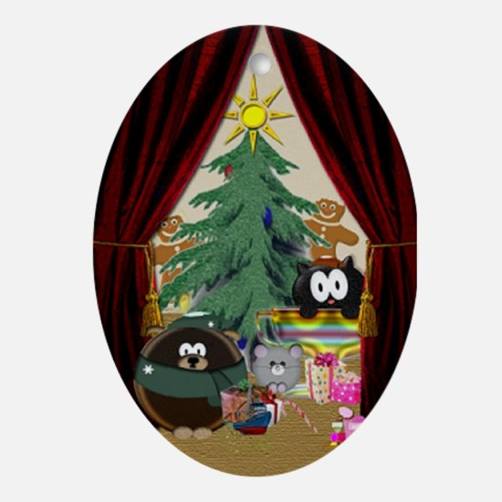 Pet's Holiday Oval Ornament