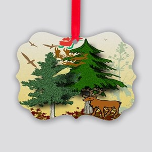 Forest Santa visit Ornament