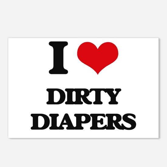 dirty diapers Postcards (Package of 8)