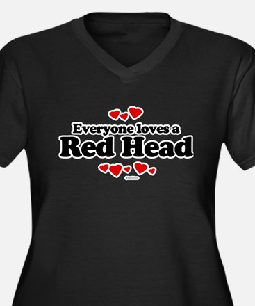 Everyone loves a Red Head Women's Plus Size V-Neck